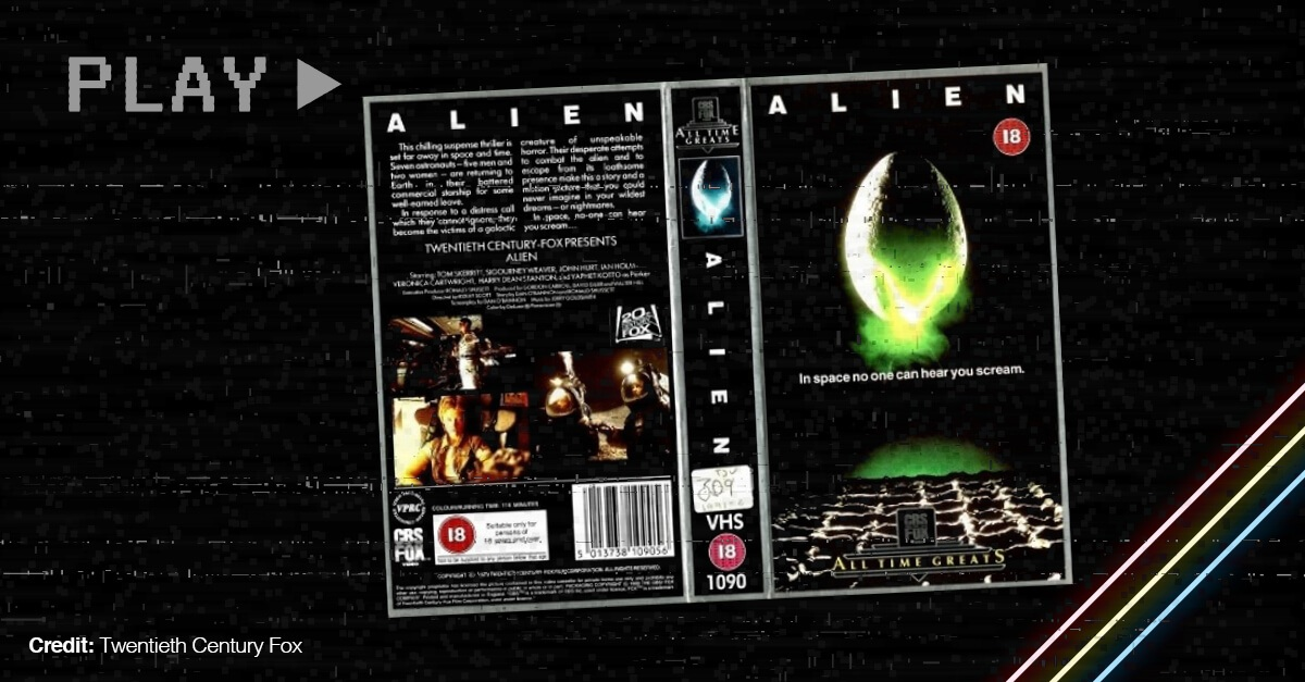 Vhs Cover Of The Ridley Scott Movie Alien