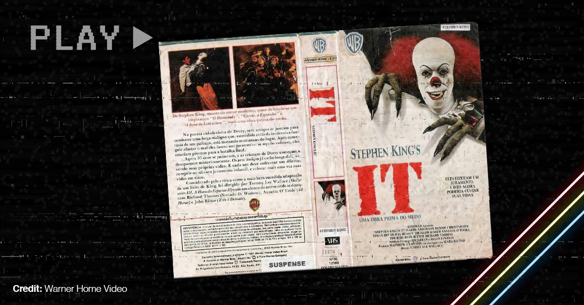 Vhs Cover Of The Stephen King Movie It