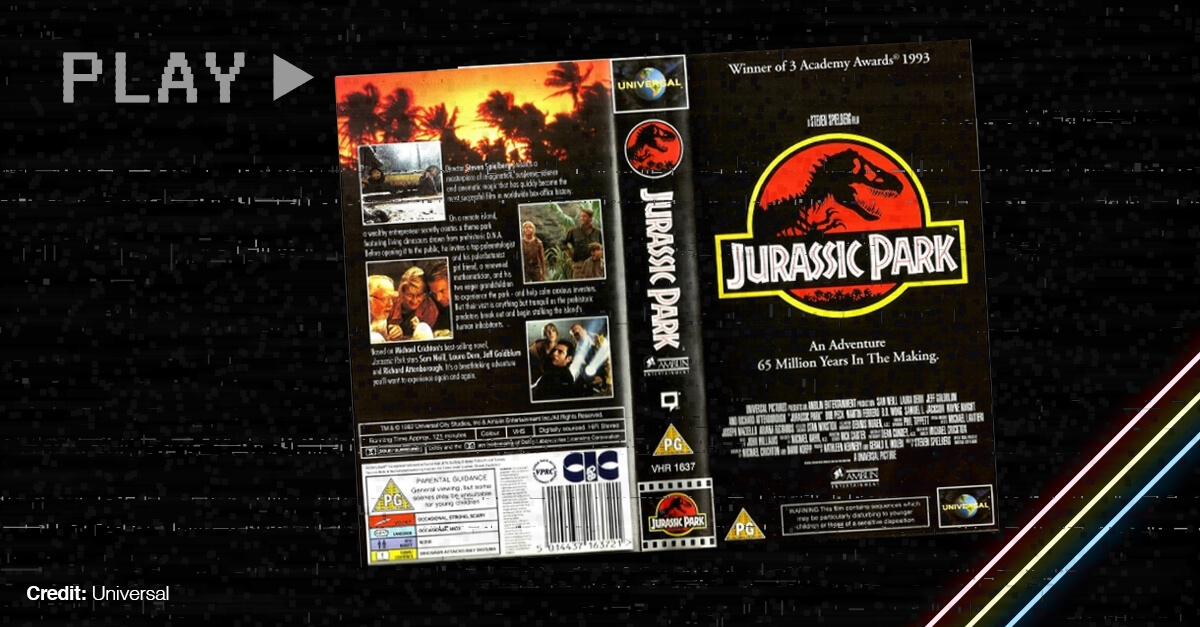 Vhs Cover Of The Stephen Spielberg Film Jurassic Park