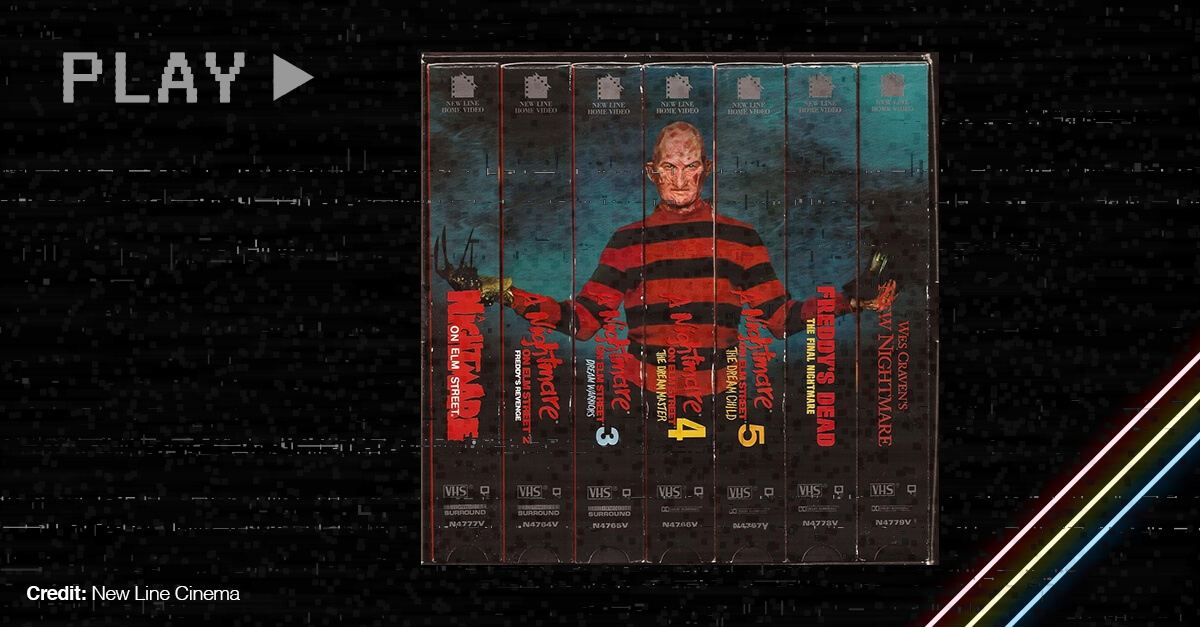 Vhs Covers Of The Wes Craven Movie Nightmare On Elm Street