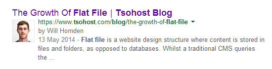 Rich Snippet Authorship Google